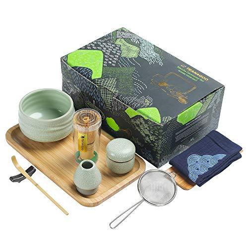TEANAGOO Japanese Tea Set Matcha Whisk Set Matcha Bowl Bamboo Matcha Whisk (Chasen) Scoop (chashaku)...