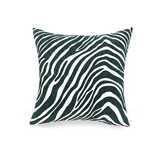 QXbecky Federa Federa quadrata jacquard tinta in filo motivo animalier senza anima 1, 2 pezzi federa in microfibra con decorazione divano