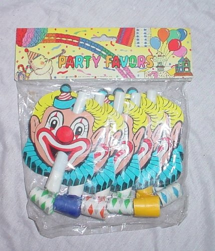 BALLOONSHOP Pack de 6 Jazzy Clown Blow Outs pour Parties / Xmas (M16)