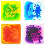 Art3d Liquid Sensory Floor Decorative Tiles, 11.8'x11.8' Square, Colorful, 4 Tiles