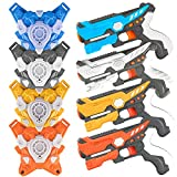 Ainek Laser Tag - Laser Tag Sets with Gun and Vest - Adults & Kids Laser Tag Guns Set of 4 - Multi Player Laser Tag Family Game for Teenager Boys Girls and Adults at Home or Backyard