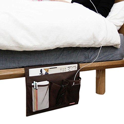 FakeFace Heavy-duty Oxford 4 compartimentos remoto colchón libro iPad revista Teléfono celular organizador para sofás de mesilla de sillón colgante para gabinete de mesa bandeja organizador de bolsa de bolsillo para dormitorio escritorio