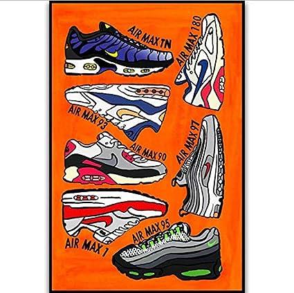 tgbhujk Air Max Série Chaussures Sneaker Histoire De La Mode Mur ...