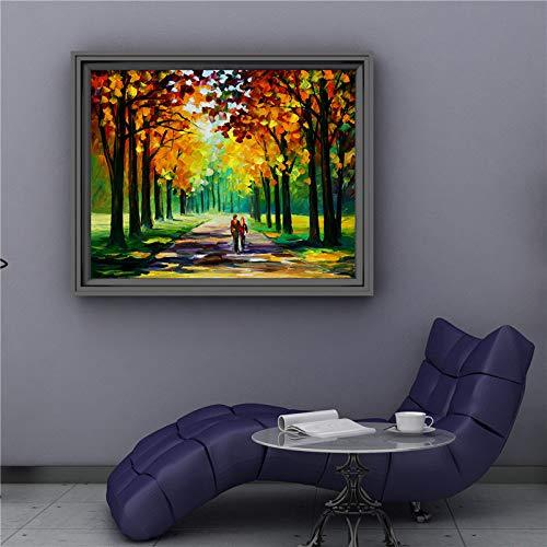 tzxdbh muurdecoratie handwerk over romantische herfst moderne muurkunst foto poster canvas olieverfschilderij papier voor huishoudtextiel YX1 015-in een Gro SIZE 3 40 x 50 cm.