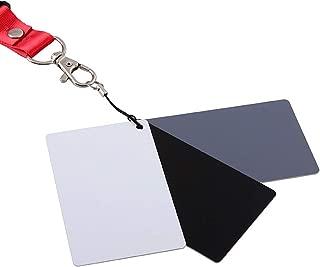 White Balance Card, Midong Grey Card (8.5 x 5.4 cm) 18% Exposure Photography Card Custom Calibration Camera Checker Video, DSLR and Film