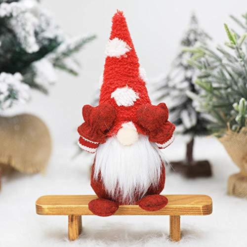 Kathrin Santa GNOME - Muñeca de peluche (9,65, 4,33, 0,9 pulgadas), diseño de Papá Noel