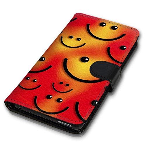 Book Style Handy Tasche - Design MV-97 - kompatibel mit Wiko Bloom - Cover Case Schutz Hülle Etui Schutzhülle
