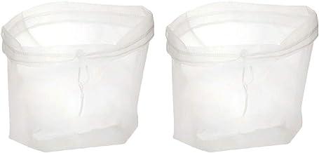 BESTONZON 2Pcs Nut Milk Mesh Bag Reusable Nylon Fine Mesh Food Strainer for Home Nut Almond Milk Cold Brew Coffee Juice (23x30cm)