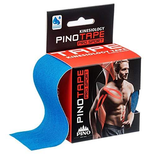 Pinotape Pro Sport kinesiologisches Tape verschiedene Farben und Designs 5 cm x 5 m hautfreundlich (blau)