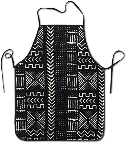 DUTRIX Harlem Mud Cloth Novelty Adjustable Anti Dirty Bib Apron for Kitchen Apron Cooking Baking Gardening Parties