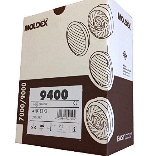 Box Moldex 9400A1B1E1K1Gas filter-filting und Kartusche für Maske 7000& 9000series 5Paar