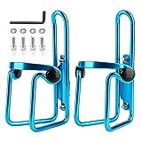 Mementoy - Portabidones para biberones (2 unidades, aleación de aluminio), azul, -