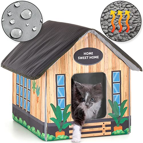 Heated cat Houses for Outdoor Cats in Winter - Heated Outdoor cat House...