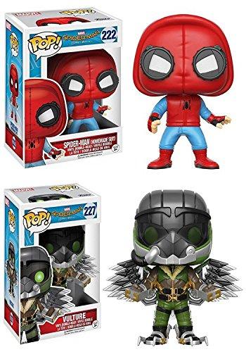 Funko POP! Spider-Man Homecoming: Spider-Man (Homemade Suit) + The Vulture - Marvel Vinyl Bobble-Head Figure Set NEW