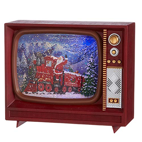 Raz 4000777 Santa Express Musical and Lighted Water TV, 10 Inches, Multicolor