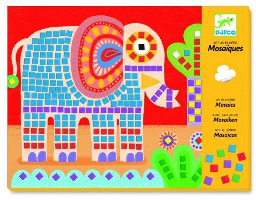 Djeco - Mosaiques aux numéros - Eléphant et Escargot