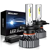 2003 pontiac vibe headlight - SEALIGHT Scoparc S1 H4/9003/HB2 LED Headlight Bulbs,High Beam Low Beam,6000K Bright White,Halogen Replacement,Quick Installation