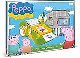 Multiprint Máquina crea Pegatinas Peppa Pig, Made in Italy, 7 Sellos, Álbum con Marcadores, Set Sellos Niños Persolanizados, en Madera y Caucho Natural, Tinta Lavable no Tóxica, Idea de Regalo, art.08875