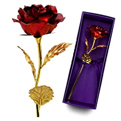 Never dry red roses always bloom,would be good chrismas gifts for her No smelling artificial flowers with acrylic stem and petal,Not same as real rose flower looking while no need watering First choice on valentines gifts & mothers's day gifts, sendi...