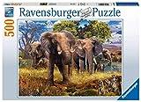 Ravensburger- Elefantenfamilie Puzzle 500 Piezas, Multicolor (15040)