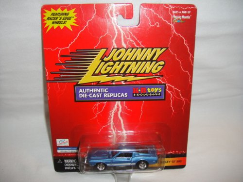 JOHNNY LIGHTNING 1:64 SCALE KB TOYS EXCLUSIVE BLUE 1968 SHELBY GT-500 DIE-CAST COLLECTIBLE