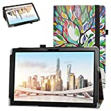 Bige for TECLAST P10SE Tablet Case,PU Leather Folio 2-Folding Stand Cover for TECLAST P10SE 10.1 Inch Tablet,Love Tree