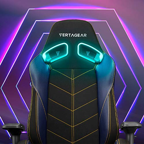 VERTAGEAR RGB LED Kit Wireless Audio Sync Gamer Customizable Upgrade Light Décor, Top Set for Gaming SL5000, Black: Chairs Sold Separately