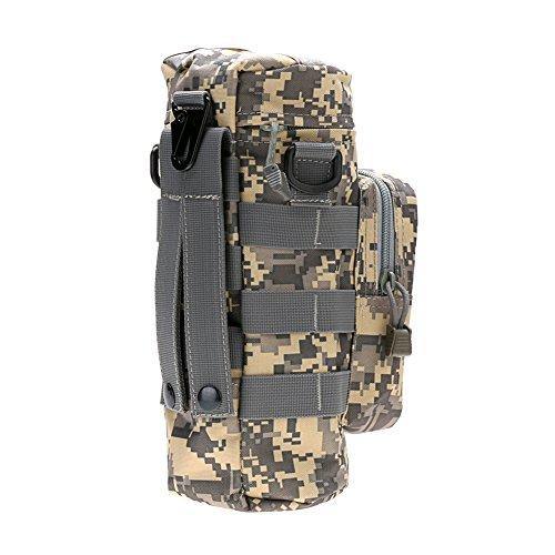 Generic Extérieur Sport Bouteille D'eau Kettle Sac - Camouflage, Petite poche : 16x3x3cm - Grande poche : 27x10cm