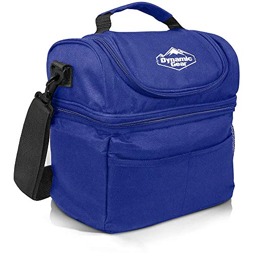 Dynamic Gear Refrigerated Lunch Box Tote Bag, Large, Adults/Men/Women, Insulated, Mesh Pockets, for Travel, Work, Picnic, Camping!