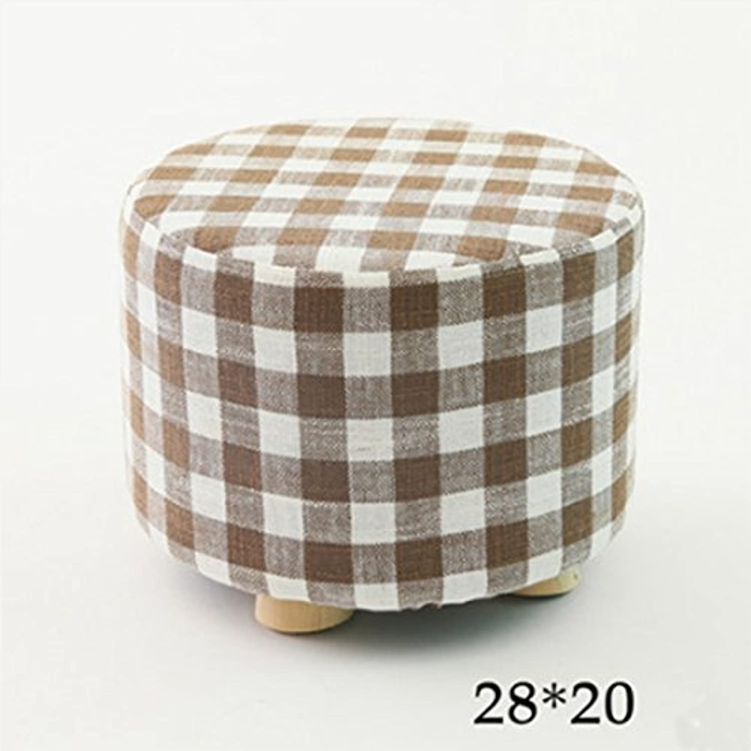 Dana Carrie Stool Home Stylish Creative Wooden Sofa Chair Fabrics on a Low stool for shoes is a Small Living Room Benches Home, Grid