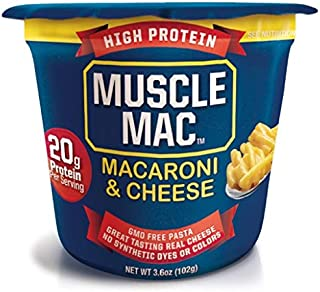Sponsored Ad - Muscle Mac, Macaroni & Cheese Microwavable Cups, Original Cheddar, GMO Free Pasta Made With Real Cheese, 3....