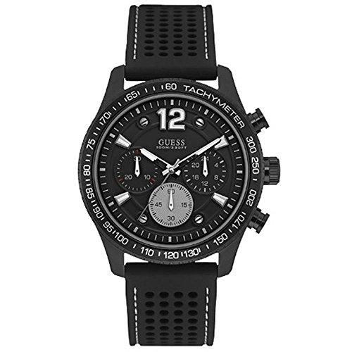 Guess Fleet Reloj para Hombre Analógico de Cuarzo con Brazalete de Silicona W0971G1