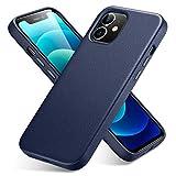 ESR Leder Hülle entwickelt Kompatibel mit iPhone 12 Pro Max (2020) Schlankes Vollleder Unterstützt kabelloses Laden Kratzresistent Blau