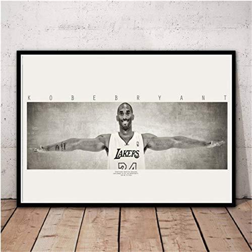 Póster Art Decor Black Mamba Back In Time Jugador De Baloncesto MVP Star Wall Canvas Print Art Poster Decoración 50X70Cm Sin Marco