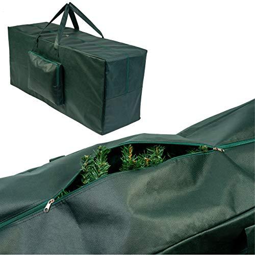2 Piezas Bolsas de Almacenamiento Grandes para Árboles de Navidad, 120x35x50cm| Poliéster 210D Premium, Resistente| Ideal para Árboles Artificiales, Adornos y Decoraciones.