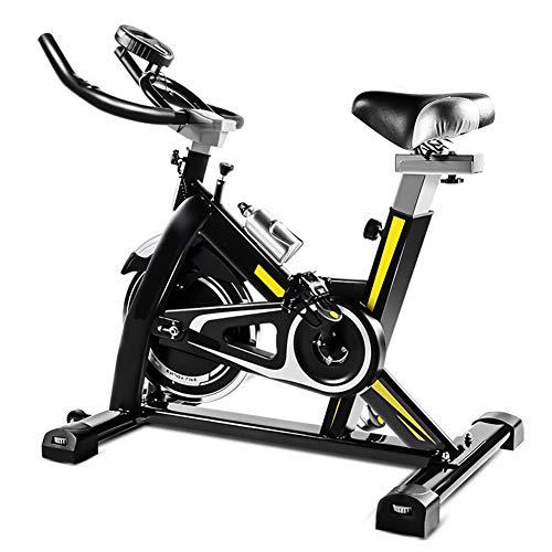 HLEZ Sport Fitnessfahrrad, Fitnessfahrrad Heimtrainer mit Handpulsmessung & LCD Monitor Standfahrrad Fitnessgerät Benutzergewicht Bis 150 kg