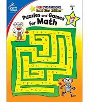 Puzzles and Games for Math: Grade 3, Gold Star Edition (Homeworkbooks)