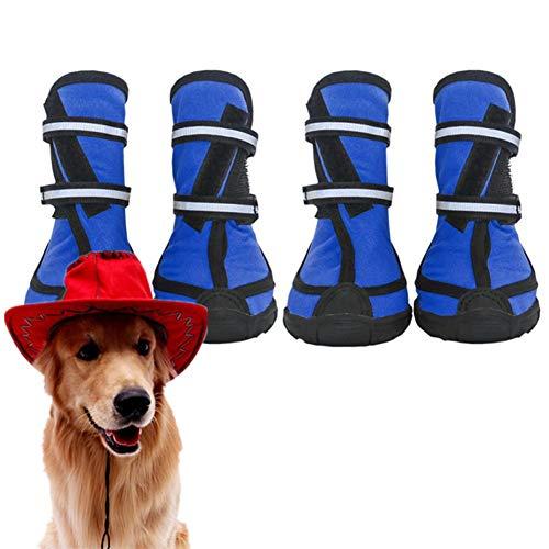 wersdf Hundeschuhe Pfotenschutz Hundeschuhe Sommer Haustierstiefel Hundeschuhe für große Hunde Hundeschuhe für kleine Hunde Hundeschuhe rutschfest Blue,XXL