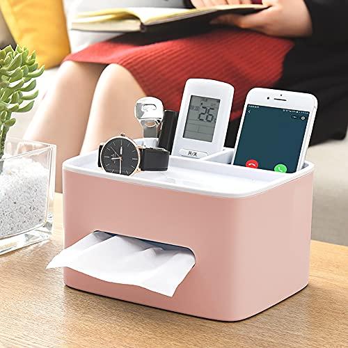 H·Aimee Caja de Pañuelos Multifunción,Rectangular Soporte de Pañuelos,Organizador para Mando a Distancia Teléfono móvil Tableta 20.5x16x11.5cm