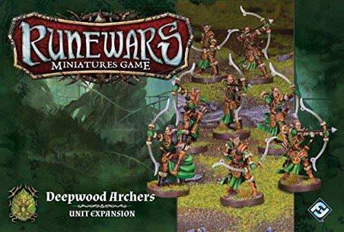 Fantasy Flight Games FFGRWM16 Deepwood Bogenschützen-Erweiterungspaket: Runewars-Miniaturen-Spiel, Mehrfarbig