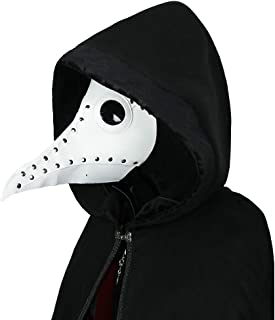 Punk Gothic Plague Long Beak Mask Doctor Masquerade Adult Mens Womens Cosplay Bird Beak Mask Halloween