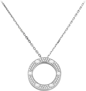 Love Necklace 316L Titanium Steel Manufatured Highest Craftsmanship Using 5A Cubic Zirconia Diamond Fashion Light Luxe for Women Girls