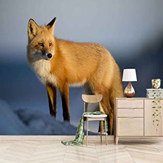 VITICP Adults Kids Wall Stickers Decals Peel and Stick Removable Wallpaper Animal Fox for Nursery Bedroom Living Room TV B...