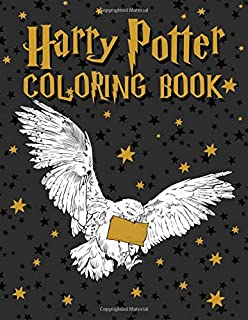 Harry Potter Coloring Book: 50+ Magical Places Characters & Creatures Illustrations Amazing Coloring Books for Adults
