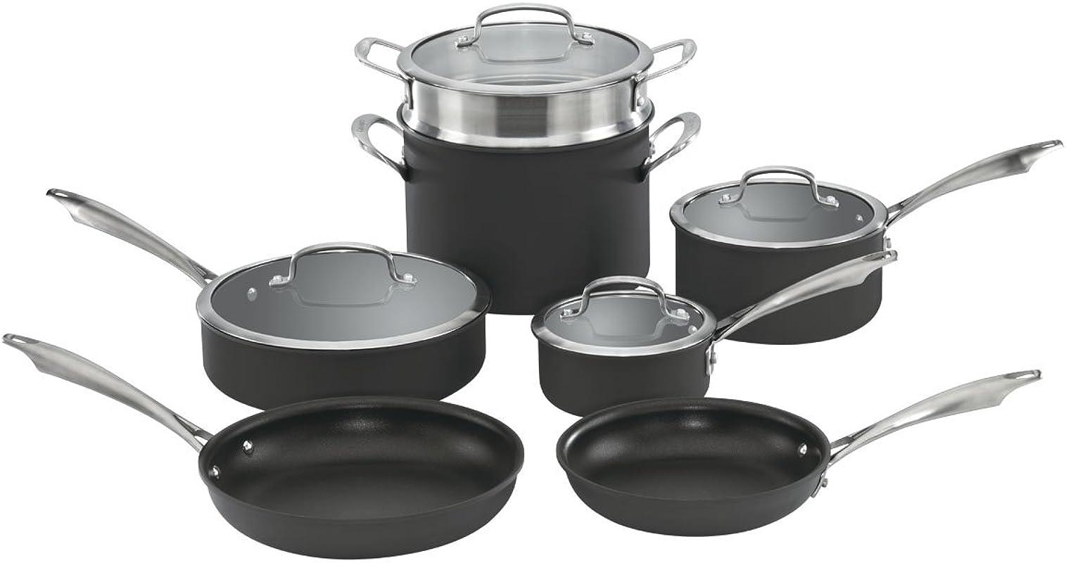 Cuisinart DSA 11 Dishwasher Safe Hard Anodized 11 Piece Cookware Set