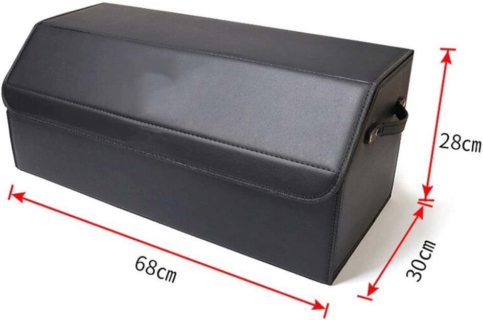 Car Trunk Storage Box Foldable Storage Box Suitable for BMW Cars Size : M It is Made of Durable Leather Can Be Easily Expanded to Meet The Needs of Any Car Organization