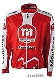 HEBO he4248rl Wind Pro Montesa Classic Giacca, Rosso, Taglia L