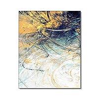 キャンバスペインティング グラフィティアート抽象的なキャンバス絵画書道ポスタープリントポップアートキャンバス壁アート家の装飾画像クアドロス装飾 50x75cm