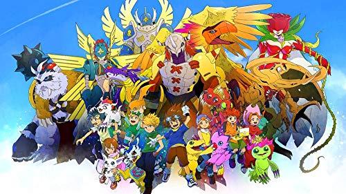 JUNLIZHU Digimon Adventure Bokura no War Game (62cm x 35cm | 25inch x 14inch) Silk Print Poster Silk Printing / 25F96C