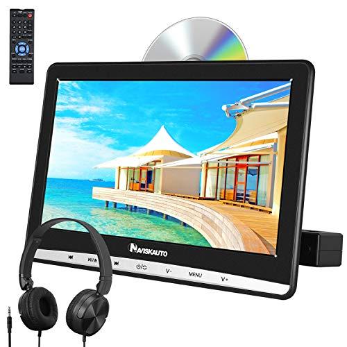 "NAVISKAUTO 12\"" DVD Player Auto Slot In Tragbarer DVD Player Kopfstütz Monitor Bildschirm Memory TF USB AV In/Out 12V"